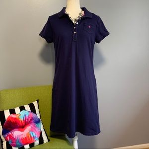 Lily Pulitzer Navy Short Sleeve Polo Dress